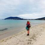 Glücklich am Meer von Fisterra am Ende meiner Pilgerreise.