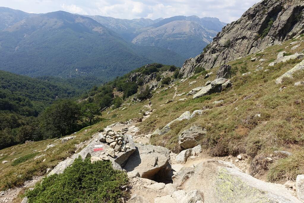 Fernwanderweg GR 20 auf Korsika. 11. Etappe vom Refuge de Capannelle zum Refuge de Prati