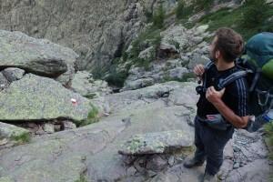 Fernwanderweg GR 20 auf Korsika. 4. Etappe von Haut Asco / Altore zum Refuge de Tighiettu