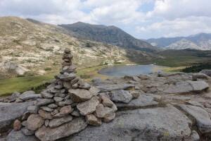 Fernwanderweg GR 20 auf Korsika. 6. Etappe vom Refuge de Ciottulu zum Refuge de Manganu