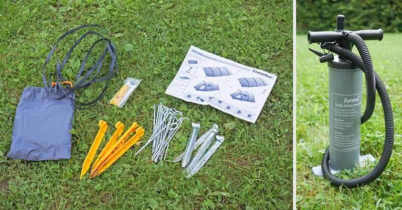 Aufbau des Eureka Poso Creek BTC RS Polycotton Zelt. Leicht gemacht durch Luftkanäle.