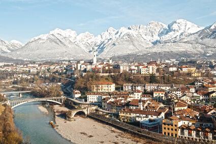 Dolomiten-Höhenweg 1. Zehnte Etappe von Rifugio 7° Alpini nach Belluno
