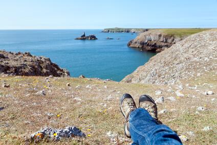 Etappe 11 Pembrokeshire Coast Path Whitesands Bay Aber Draw