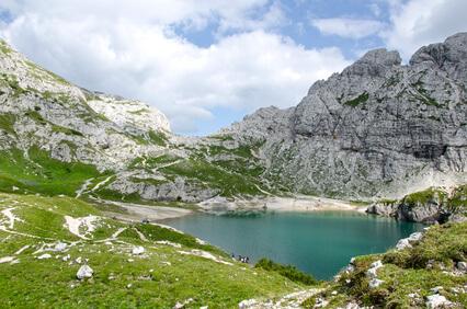Dolomiten-Höhenweg 1. Fünfte Etappe von Croda da Lago nach Rif. Coldai