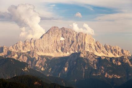 Dolomiten-Höhenweg 1. Sechste Etappe von Form. Coldai nach Riff. Carestiato