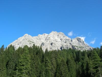 Dolomiten-Höhenweg 1. Siebte Etappe von Riff. Carestiato nach Rifugio Pramperét