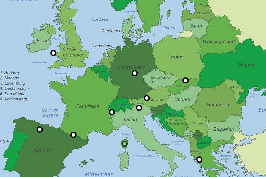 Wanderwege Deutschland Karte.Die Besten Fernwanderwege In Europa Touren Bilder Doorout Blog