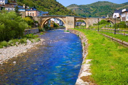 Wanderung durch Weinberge auf dem Weg nach Villafranca del Bierzo. Wieder viel Abwechslung auf der Jakobsweg Etappen Karte.