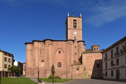 Das Kloster in Najera auf dem Jakobsweg Spanien. Eine der sehenswerten Etappen des Pilgerwegs.