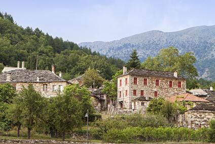 Papigo, Ziel der ersten Etappe des Zagoria Trek in Griechenland.