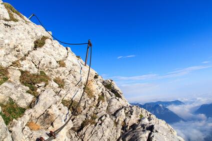 Klettersteig am Watzmann - die Watzmann Überschreitung ist nur für geübte Wanderer zu empfehlen.