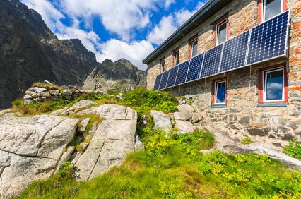 Das Ziel der ersten Etappe der Tatra-Überschreitung, die Teryho-Hütte