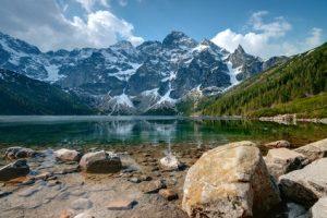 Ziel der 4. Etappe der Tatra-Überschreitung - der wunderschöne See Morskie Oko.