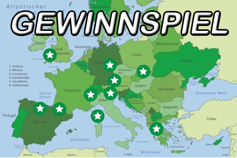 Gewinnspiel - Top Fernwanderwege Europas
