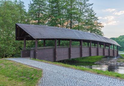 Etappe 14 Kammweg - Holzbrücke über die Weiße Elster