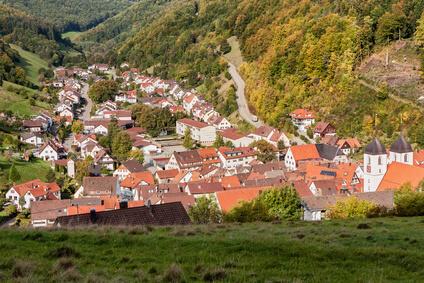 Der Albsteig Etappe 7, diese Etappe endet im schönen Wiesensteig.