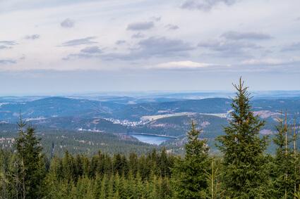 Etappe 11 Kammweg - Aussicht vom Auersberg im Erzgebirge