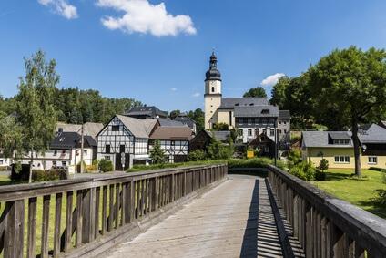 Etappe 17 Kammweg - die Stadt Sparnberg auf der letzten Etappe