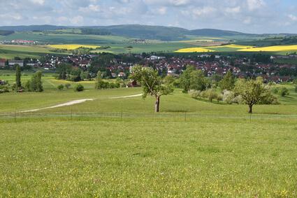 Hochrhöner Etappe 6 - das schöne Kaltennordheim, Ziel der Etappe ist Dermbach
