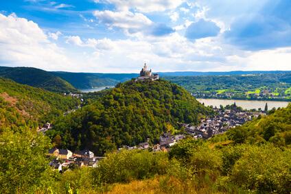 Rheinsteig Etappe 11 - das heutige Ziel dieser Etappe ist Braubach.