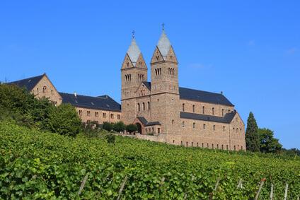 Rheinsteig Etappe 18 - die Abtei St. Hildegard, auf dem Weg nach Johannisberg