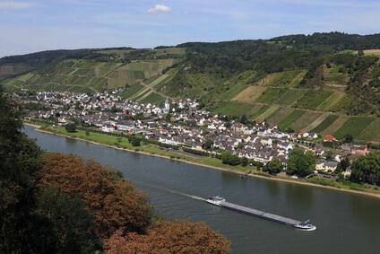 Rheinsteig Etappe 6 - der Weg führt am heutigen Tage zum Etappenziel Rengsdorf