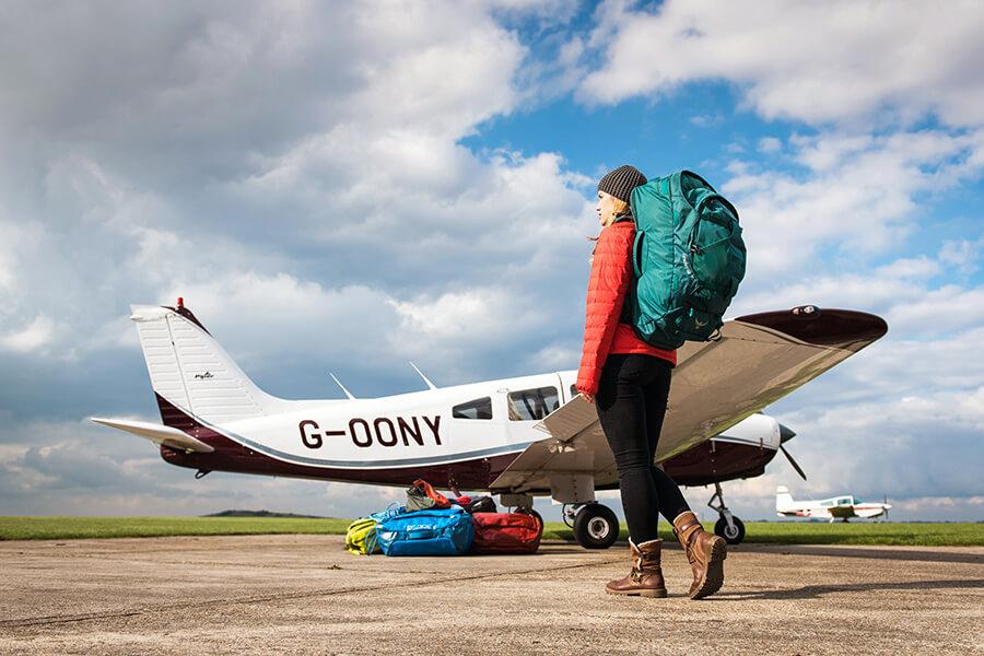Mit dem Rucksack auf Flugreisen