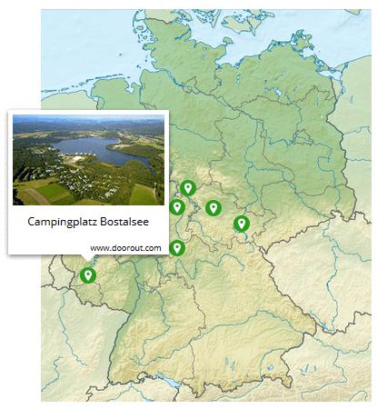 Kinderfreundliche Campingplätz in Deutschland - Interaktive Karte