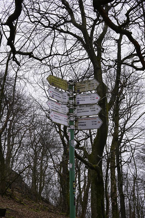 Wegweiser Extratour Milseburg