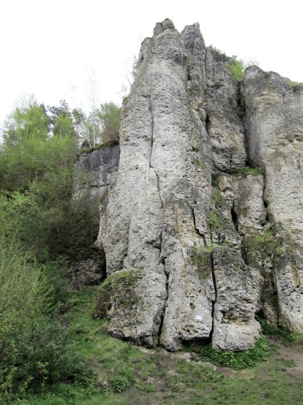 Felsformation der Steinfelder Wand