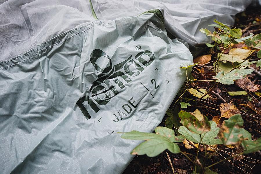 NOMAD Jade Tent 2 Aufdruck auf dem Innenzelt
