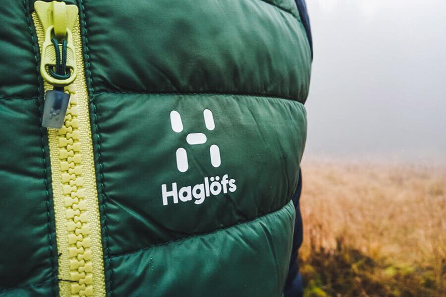 Haglöfs Logo auf der Brust