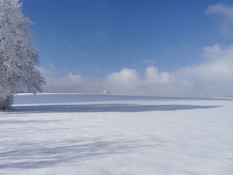 perfekter Fernblick bei traumhaften Winterwetter