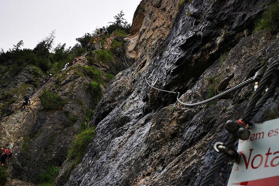 Auf und Ab im Klettersteig