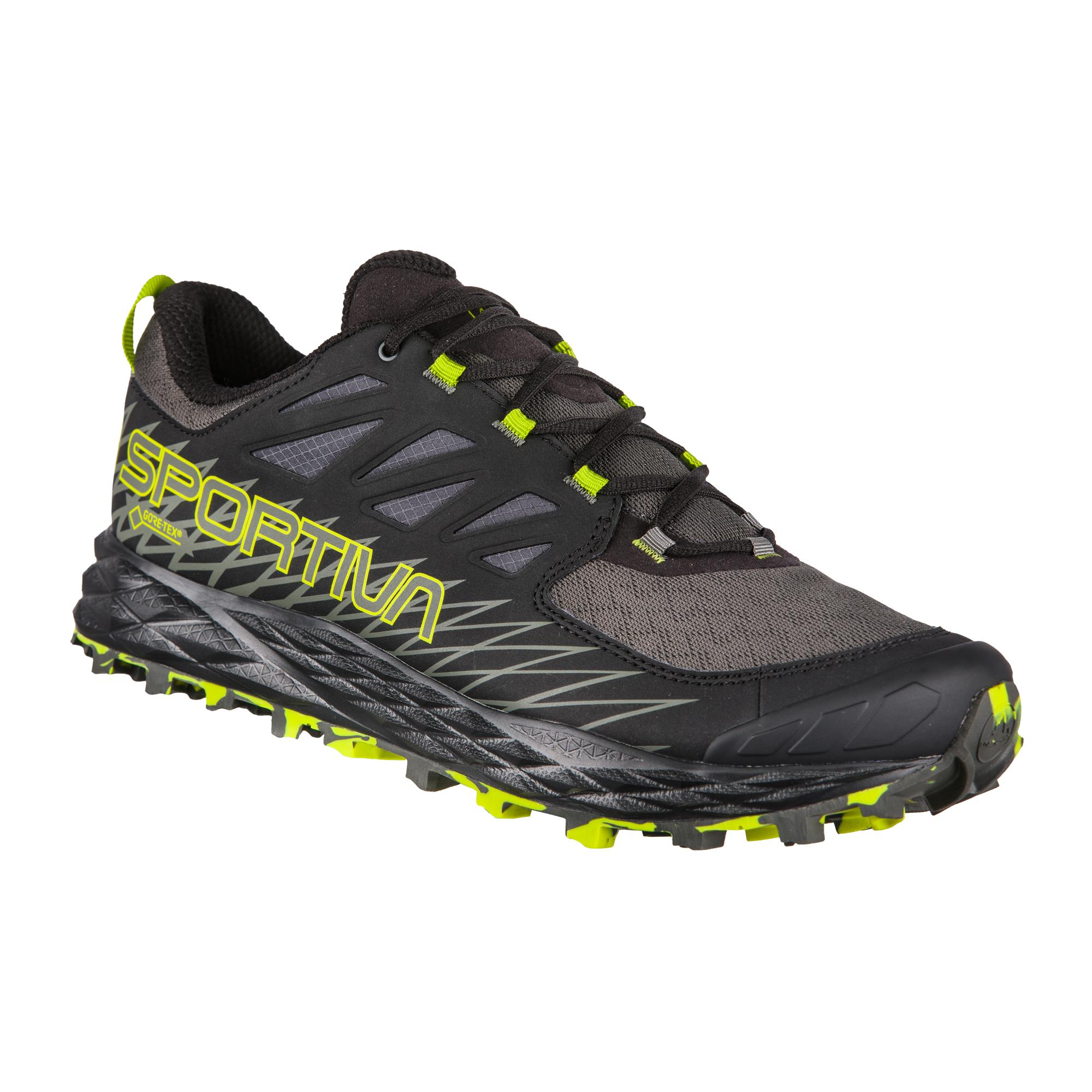 La Sportiva Lycan GTX Herren Trailrunning-Schuhe dunkelgrau,carbon/apple green