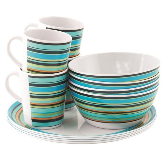 easy camp Java Melamine Set - 4 Personen Geschirrset