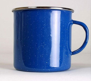 Emaille Tasse blau