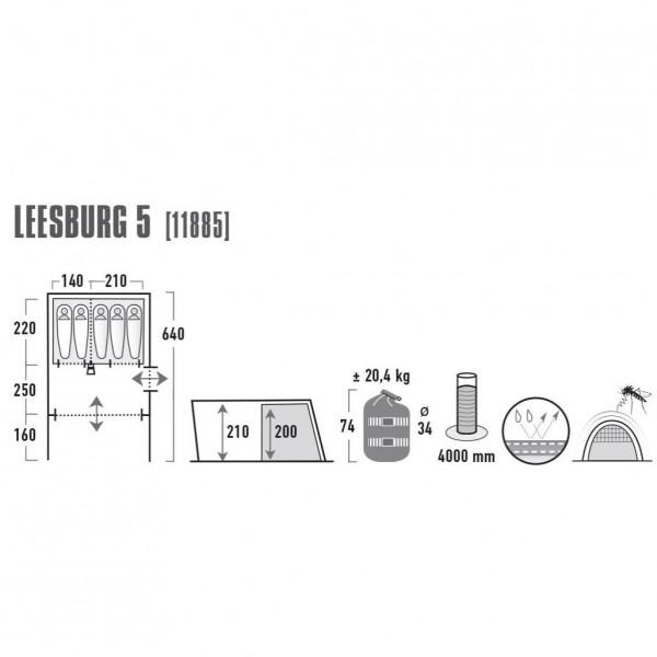 Leesburg 5 Familienzelt