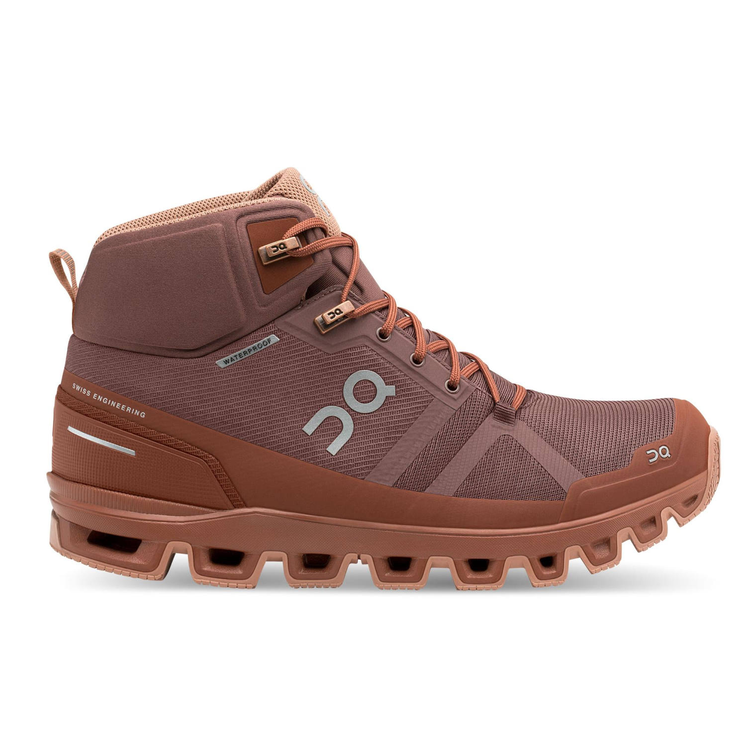 Damen Wanderschuhe On Cloudrock Waterproof braun
