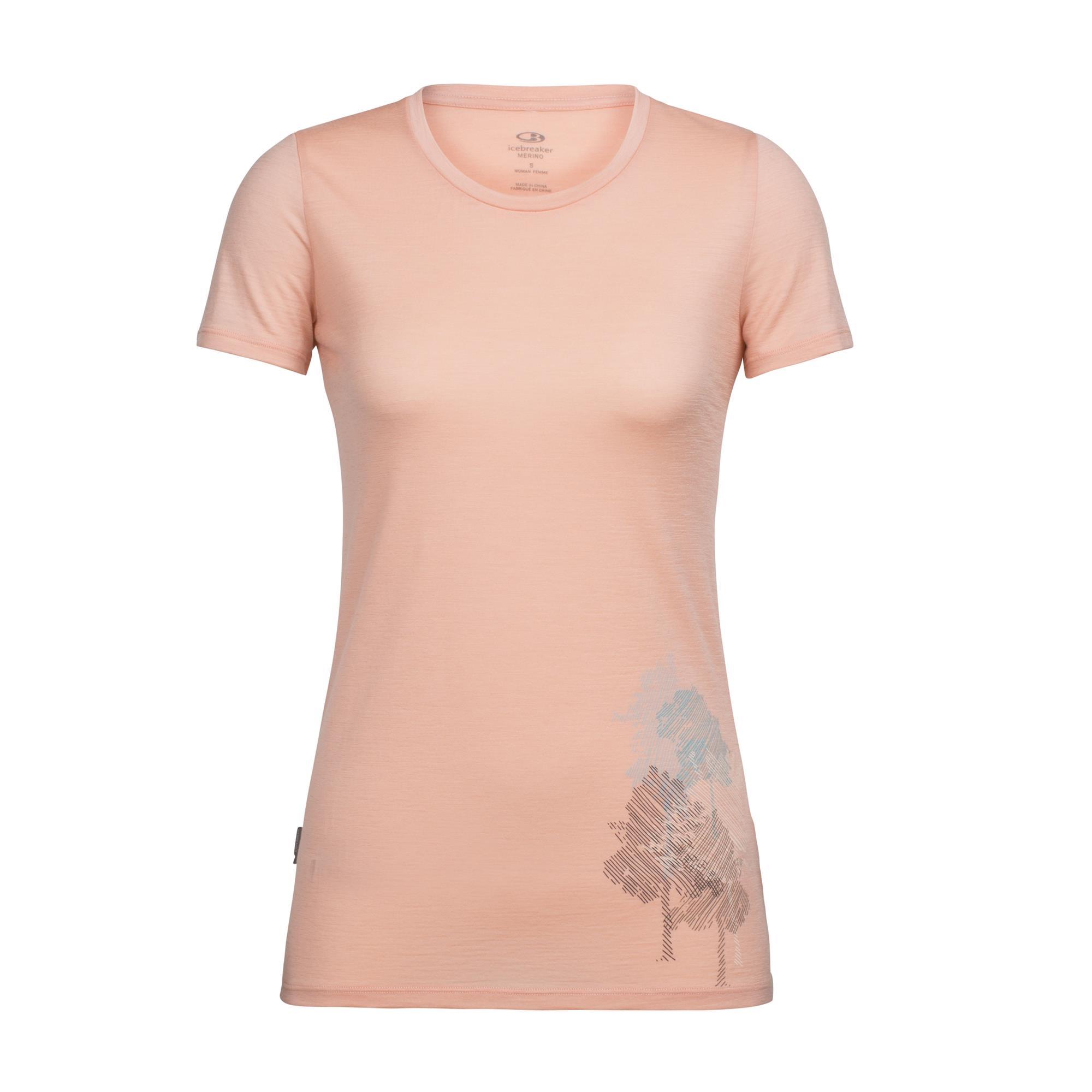 Icebreaker Tech Lite SS Low Crewe Graphic Women T-Shirt apricot Damen Preisvergleich