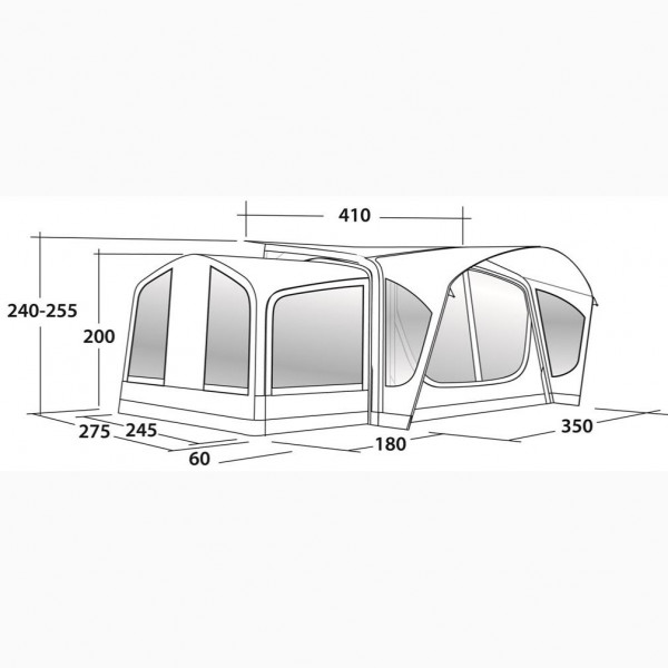 Reed 350SA Wohnwagenvorzelt