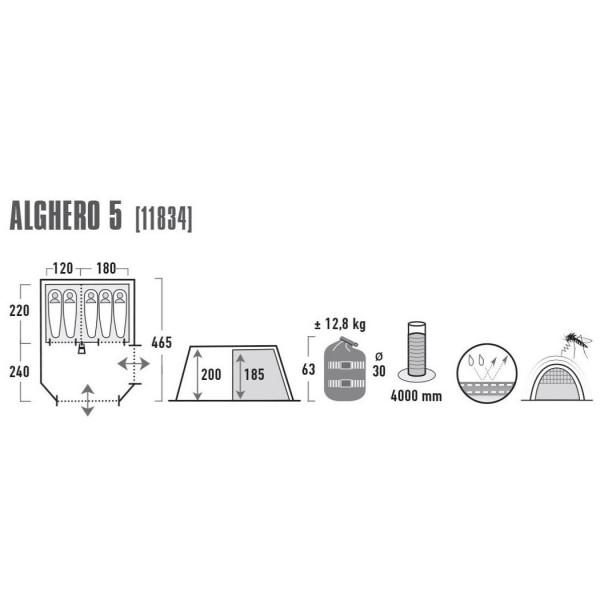Alghero 5 Familienzelt