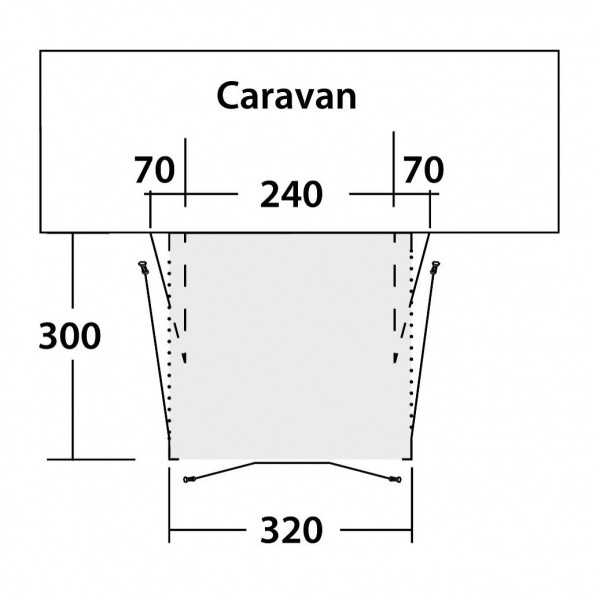 Tide 320SA Wohnwagenvorzelt