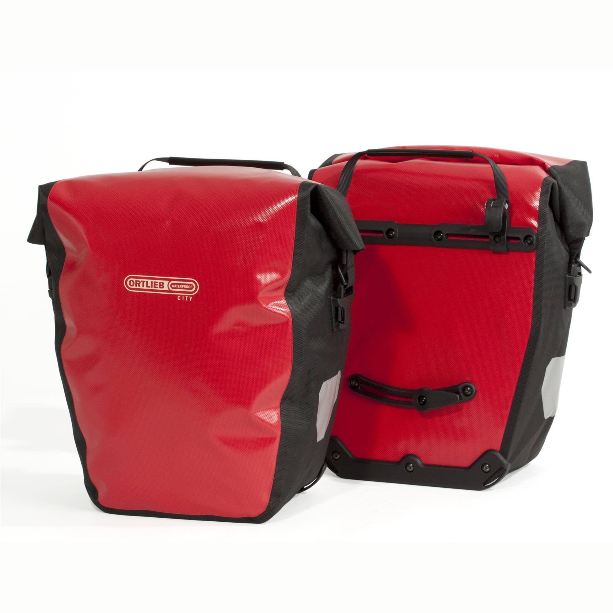 Ortlieb Back-Roller City Fahrradtasche rot/schwarz