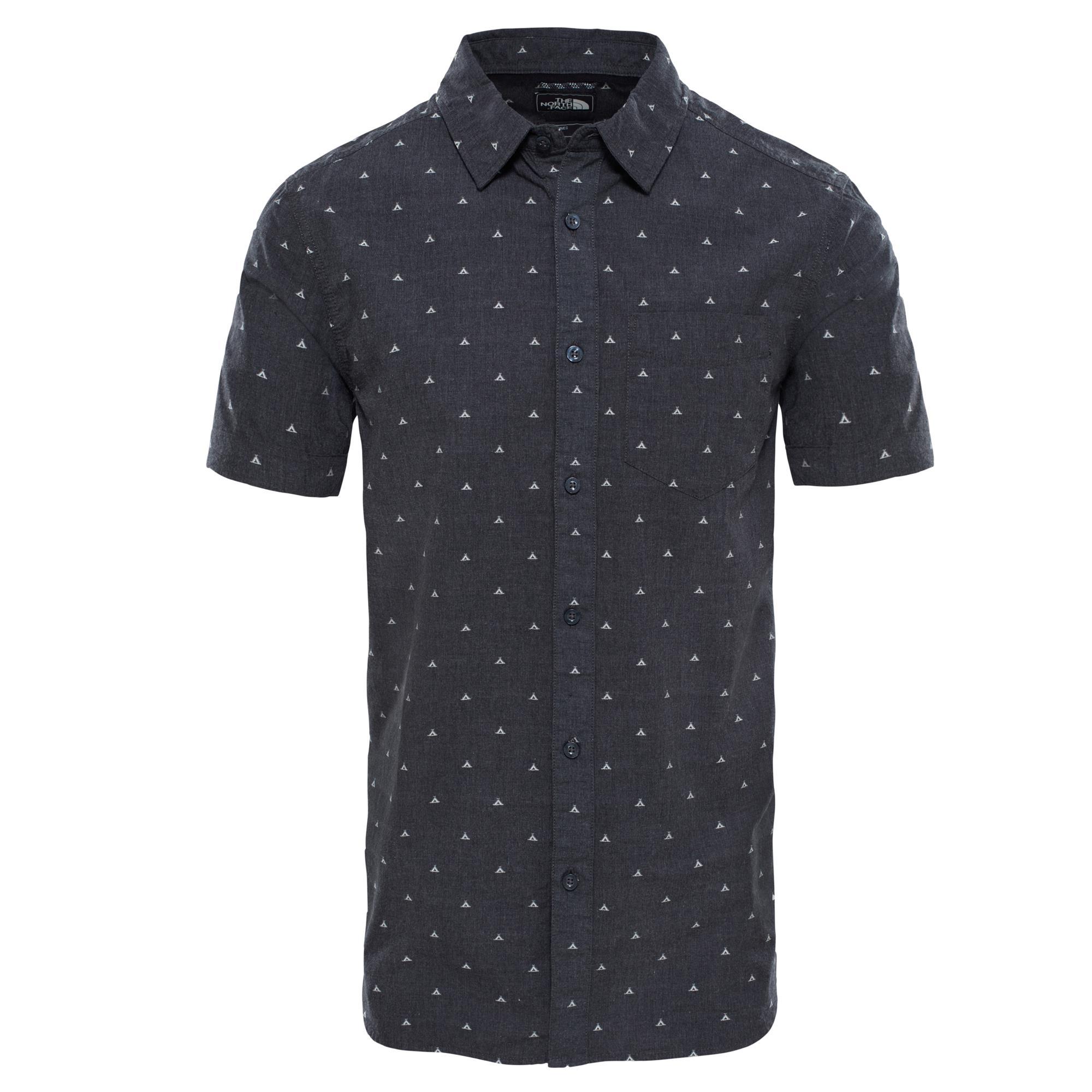 The North Face M Baytrl Jacg Shirt Hemd Herren dunkelgrau XL, Gr. XL