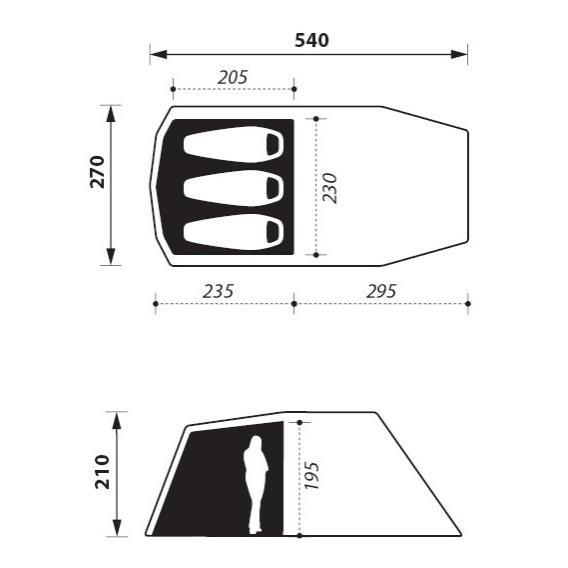Dogon 3 (+1) Air Twill Tunnelzelt