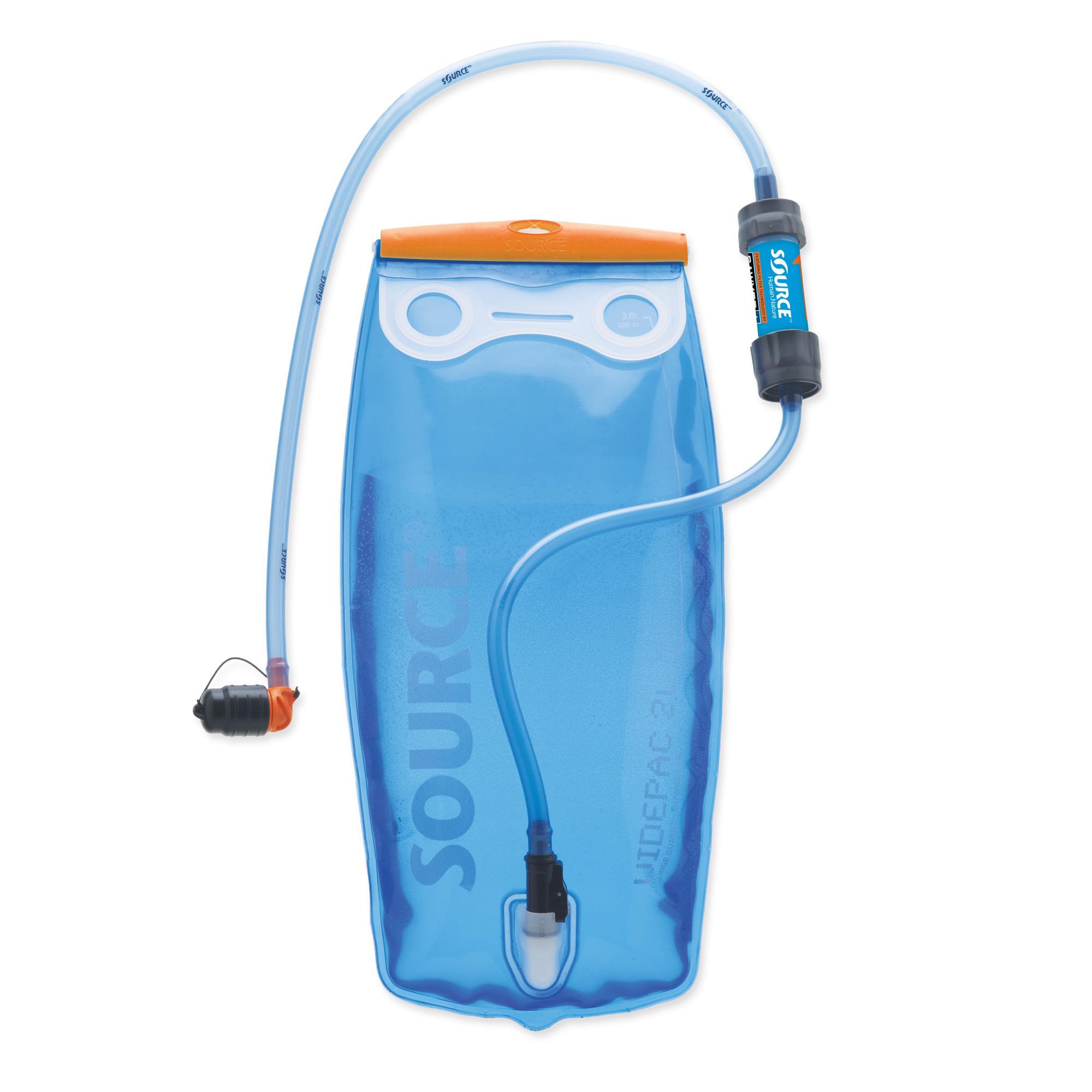Source Widepac 2 L + Sawyer Filter Wasserfiltersystem transparent-blue