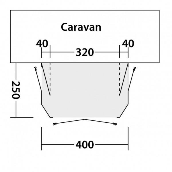 Cove 400A Wohnwagenvorzelt