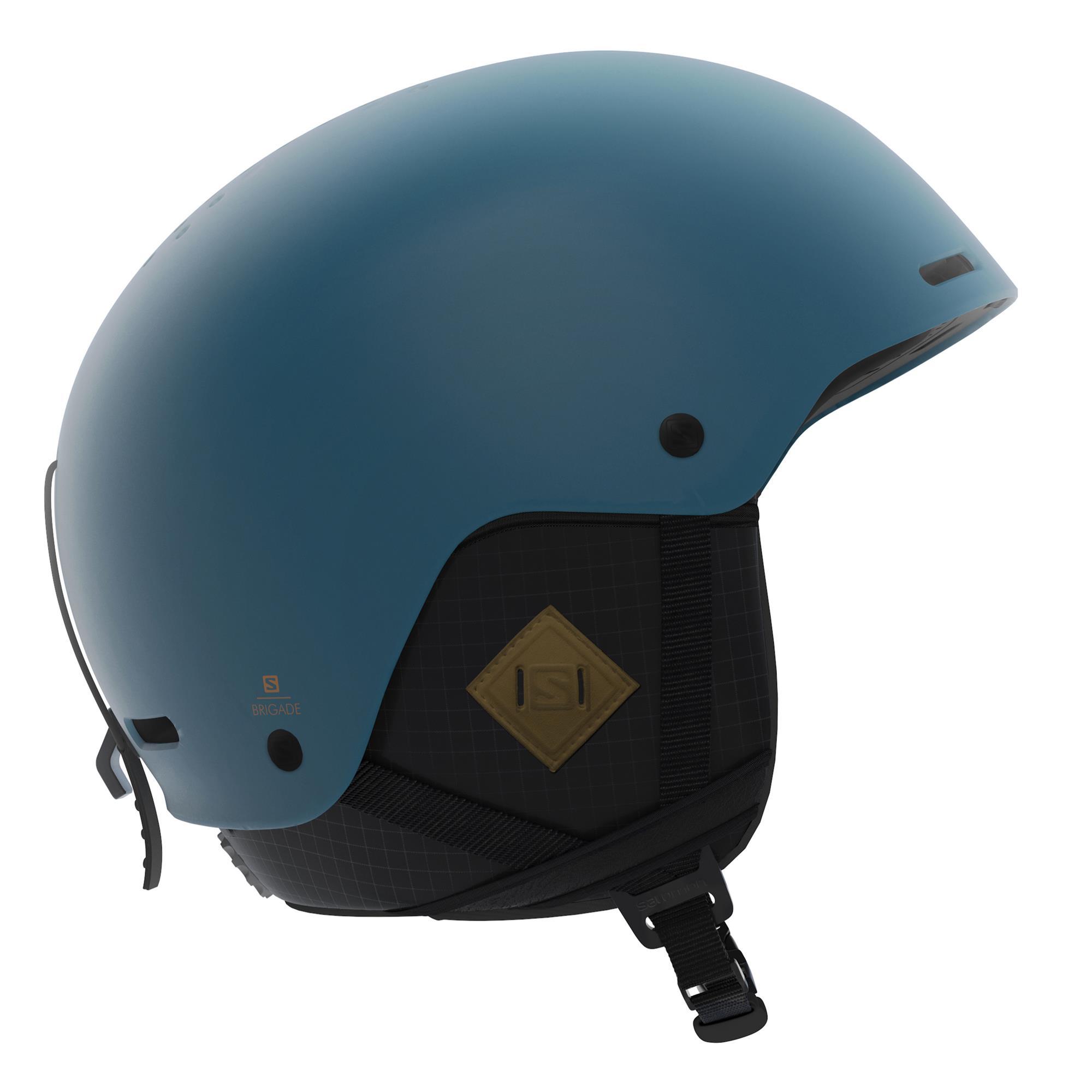 Salomon Brigade+ Skihelm moroccan blue