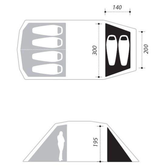 Double Bedroom Dogon 4 (+2) Schlafkabine Modell 2017